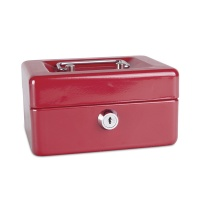 Cash Box DONAU, small, 152x80x115mm, red