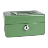 Kasetka na pieniądze DONAU, mała, 152x80x115mm, zielona, Kasetki na pieniądze, Wyposażenie biura