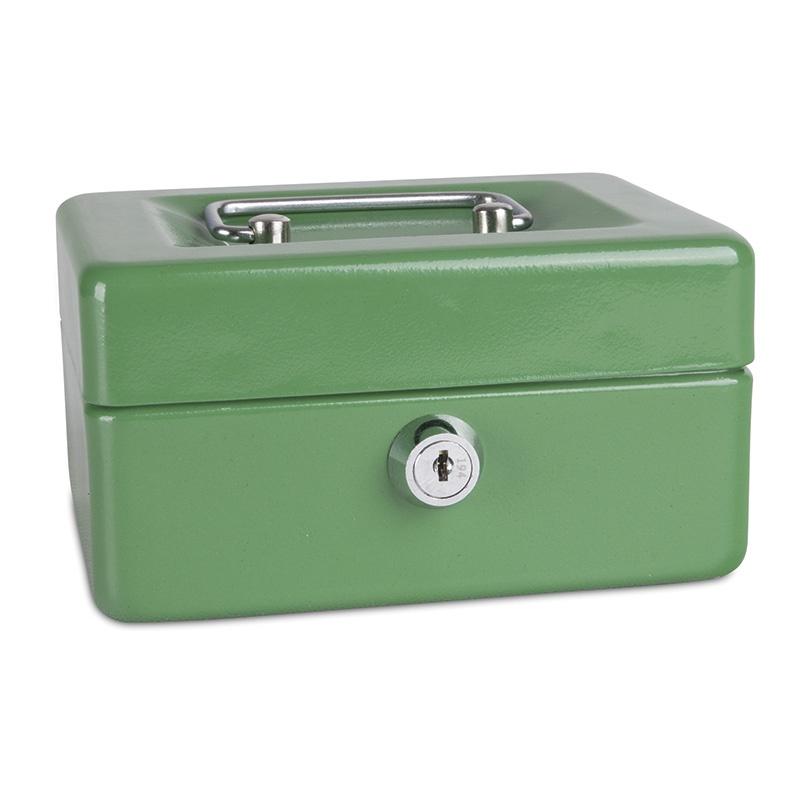 Cash Box DONAU, small, 152x80x115mm, green