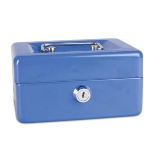 Kasetka na pieniądze DONAU, mała, 152x80x115mm, niebieska, Kasetki na pieniądze, Wyposażenie biura