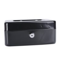 Cash Box DONAU, medium, 200x90x160mm, black