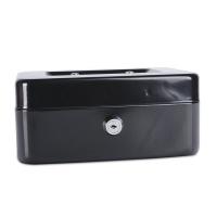 Kasetka na pieniądze DONAU, średnia, 200x90x160mm, czarna, Kasetki na pieniądze, Wyposażenie biura