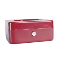 Cash Box DONAU, medium, 200x90x160mm, red