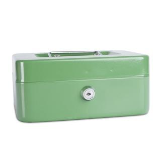 Kasetka na pieniądze DONAU, średnia, 200x90x160mm, zielona, Kasetki na pieniądze, Wyposażenie biura