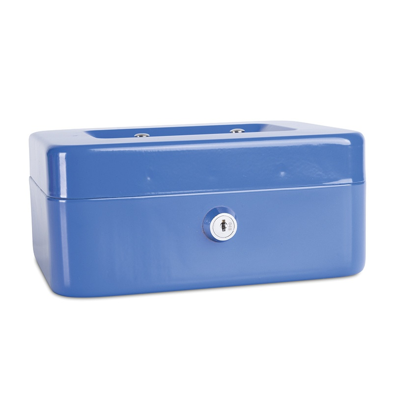 Cash Box DONAU, medium, 200x90x160mm, blue
