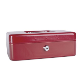 Kasetka na pieniądze DONAU, duża, 250x90x180mm, czerwona, Kasetki na pieniądze, Wyposażenie biura