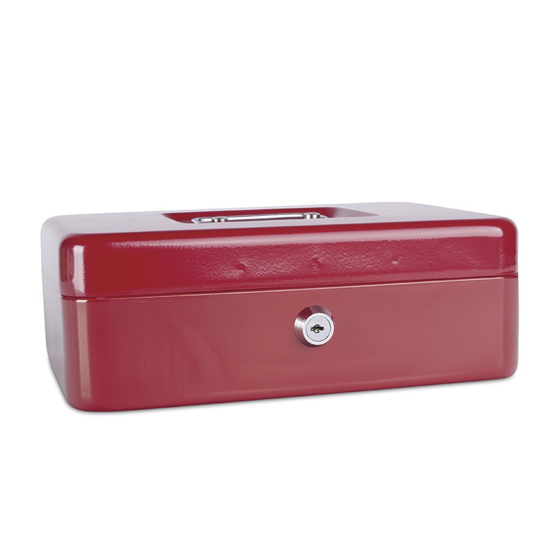 Cash Box DONAU, large, 250x90x180mm, red