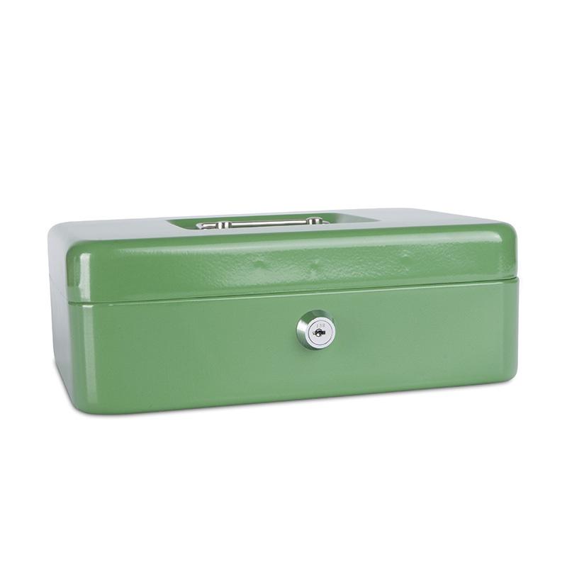 Kasetka na pieniądze DONAU, duża, 250x90x180mm, zielona, Kasetki na pieniądze, Wyposażenie biura