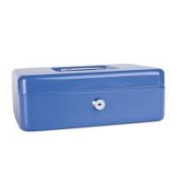 Kasetka na pieniądze DONAU, duża, 250x90x180mm, niebieska