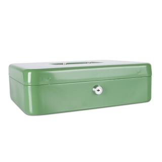 Kasetka na pieniądze DONAU, ekstra duża, 300x90x240mm, zielona, Kasetki na pieniądze, Wyposażenie biura