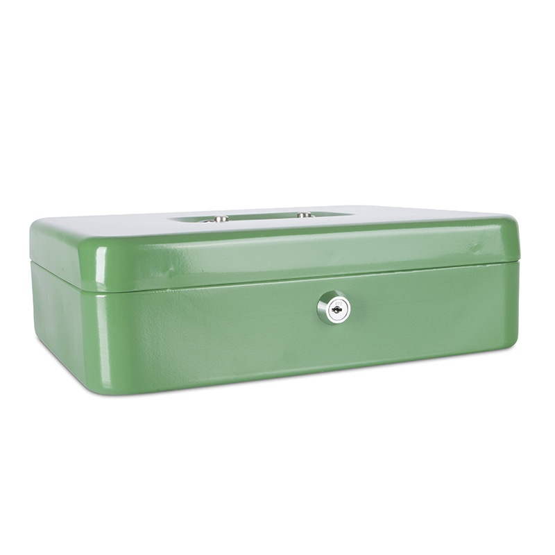 Cash Box DONAU, extra-large, 300x90x240mm, green