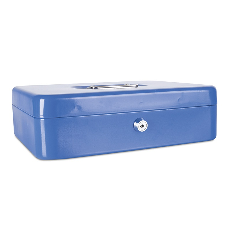 Cash Box DONAU, extra-large, 300x90x240mm, blue