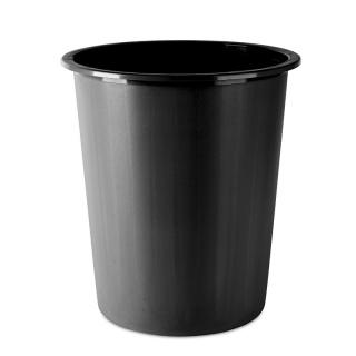 Kosz na śmieci DONAU, pełny, 14l, czarny, Kosze plastik, Wyposażenie biura