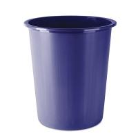 Kosz na śmieci DONAU, pełny, 14l, niebieski, Kosze plastik, Wyposażenie biura