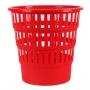 Kosz na śmieci DONAU, ażurowy, 16l, czerwony, Kosze plastik, Wyposażenie biura