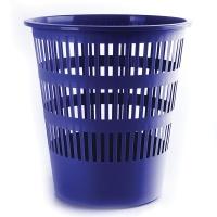 Kosz na śmieci DONAU, ażurowy, 16l, niebieski, Kosze plastik, Wyposażenie biura