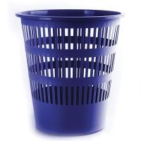 Kosz na śmieci DONAU, ażurowy, 12l, niebieski, Kosze plastik, Wyposażenie biura