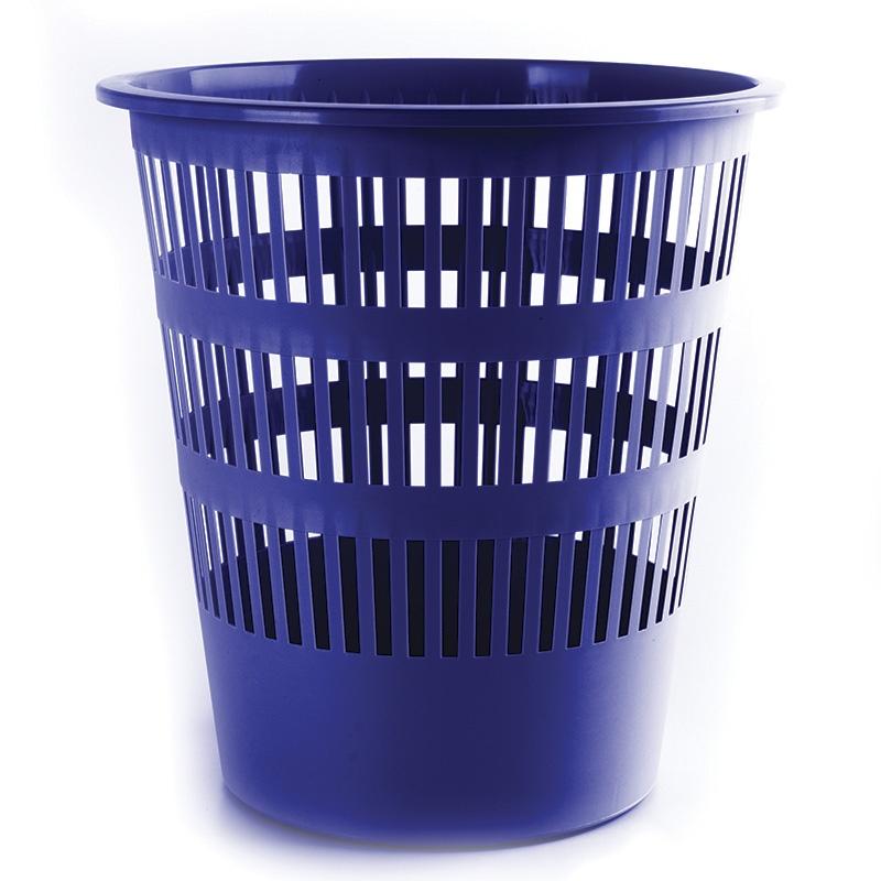 Waste Bin DONAU, mesh, 12l, blue