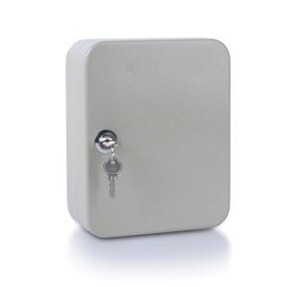 Szafka na klucze DONAU, na 20 kluczy, 200x160x80mm, szara, Szafki na klucze, Wyposażenie biura