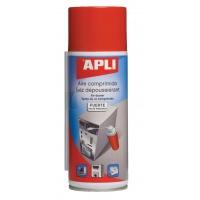 Sprężone powietrze APLI, niepalne, 300ml, Środki czyszczące, Akcesoria komputerowe