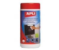 Screen Cleaning Wet Wipes APLI, dispenser tub, 100pcs