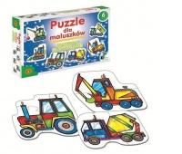 Puzzle dla Maluszków - Maszyny Budowlane, Puzzle, Zabawki