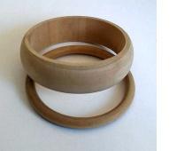 BRANSOLETY DREWNIANE 7x2cm 7x0,6cm, Produkty kreatywne, Artykuły dekoracyjne