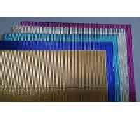 KARTON A4 METALIZOWANY FALISTY MIX 10szt, Produkty kreatywne, Artykuły dekoracyjne
