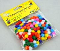 POMPONY 1cm 200szt MIX KOLORÓW LE19-06, Produkty kreatywne, Artykuły dekoracyjne