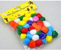 POMPONY 2,5cm 50szt MIX KOLORÓW LE19-02, Produkty kreatywne, Artykuły dekoracyjne