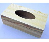 PUDEŁKO DREWNIANE NA CHUSTECZKI 23,7x12x7,7cm, Drewno, Artykuły dekoracyjne