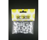 RUCHOME OCZY 10mm 100szt 0219, Produkty kreatywne, Artykuły dekoracyjne