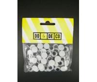 RUCHOME OCZY 12mm 80szt 0220, Produkty kreatywne, Artykuły dekoracyjne