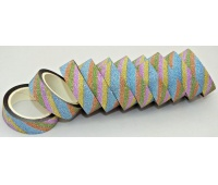 TAŚMA OZDOBNA SAMOP. 1,5cm/5m 10szt LB12-1, Produkty kreatywne, Artykuły dekoracyjne
