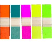 ZAKŁADKI INDEKSUJĄCE 1,2x4,5 PLASTIKOWE, Zakładki indeksujące, Papier i etykiety
