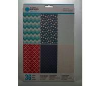 ZESTAW DO SCRAPBOOKINGU 36 kartek, Produkty kreatywne, Artykuły dekoracyjne