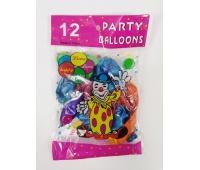BALONY METALIZOWANE 12 /12szt/ LP0802, Balony, Artykuły dekoracyjne