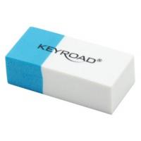 Gumka wielofunkcyjna KEYROAD, pakowane na displayu, niebiesko-biała, Plastyka, Artykuły szkolne
