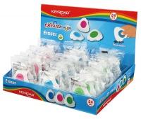 Gumka uniwersalna KEYROAD Exraser Plus, pakowane na displayu, mix kolorow, Plastyka, Artykuły szkolne