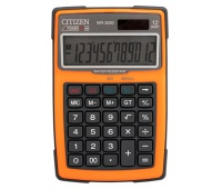 Kalkulator wodoodporny CITIZEN WR-3000, 152x105mm, pomarańczowy, Kalkulatory, Urządzenia i maszyny biurowe