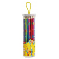 Kredki ołówkowe KEYROAD, trójkątne, z nadrukiem, 36szt., mix kolorów, Plastyka, Artykuły szkolne