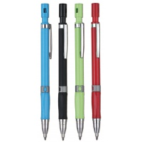 Ołówek automatyczny KEYROAD Soft Touch, 0,2mm, pakowany na displayu, mix kolorów, Ołówki, Artykuły do pisania i korygowania