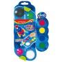Farby akwarelowe KEYROAD, zawieszka, z pędzelkiem, 12+4 kolorów, Plastyka, Artykuły szkolne