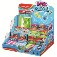 Mały display KEYROAD Back To School, karton, składany, bez wyposażenia, niebieski, Nietypowe, Artykuły szkolne