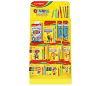 Mały display KEYROAD Colorful World, karton, składany, bez wyposażenia, żółty, Nietypowe, Artykuły szkolne