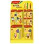 Mały display KEYROAD Colour Pencils, karton, składany, bez wyposażenia, żółty, Nietypowe, Artykuły szkolne