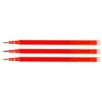 Wkład do długopisu wymazywalnego Q-CONNECT, 1,0mm, 3szt., zawieszka, czerwony, Długopisy, Artykuły do pisania i korygowania