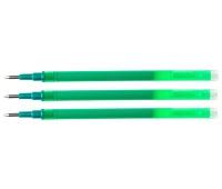 Wkład do długopisu wymazywalnego Q-CONNECT, 1,0mm, 3szt., zawieszka, zielony, Długopisy, Artykuły do pisania i korygowania