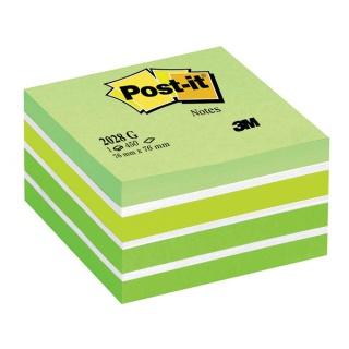 Kostka samoprzylepna POST-IT® (2028-G), 76x76mm, 1x450 kart., zielona, Bloczki samoprzylepne, Papier i etykiety