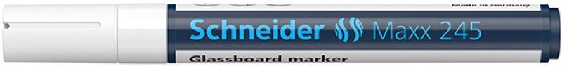 Marker do szklanych tablic SCHNEIDER Maxx 245, 2-3mm, biały, Markery, Artykuły do pisania i korygowania
